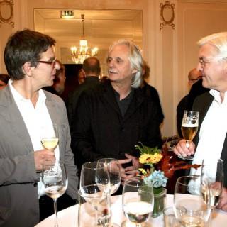 Ein großer Kulturliebhaber: der damalige Außenminister Frank-Walter Steinmeier auf dem ECM-Empfang nach dem Keith Jarrett-Konzert in Berlin