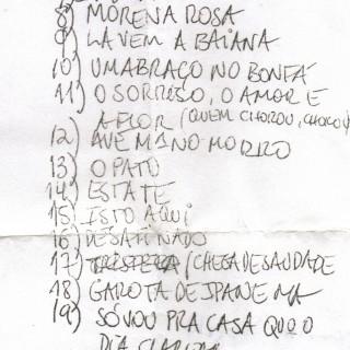 Set-List von João Gilberto in Turin.