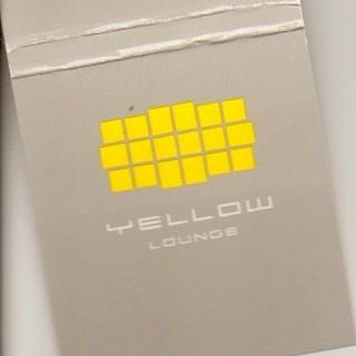 Eine Yellow Lounge Streichholzschachtel
