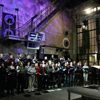 Der Berliner Rundfunkchor im Berghain.