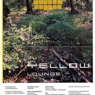 Einladung zur ersten Popkomm Yellow Lounge in Köln.