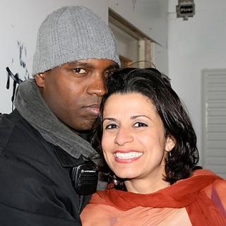 Smiley mit der Trapezkünstlerin Rosiris Garrido.