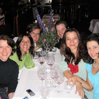 Zu später Stunde: Anne von Oswald, Cristina Ruiz-Kellersmann, Kelly, Moritz von Oswald, Francisca Botelho, Rosiris Garrido