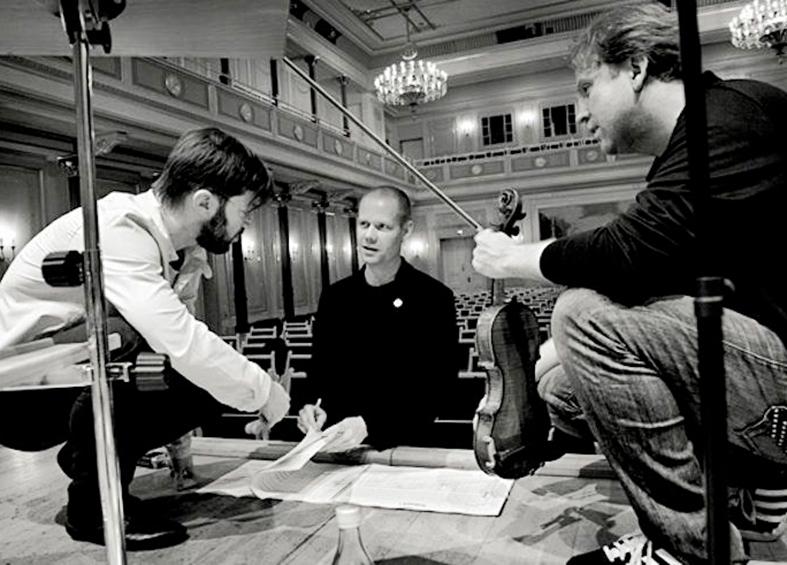 André de Ridder, Max Richter und Daniel Hope (v.l.n.r.)