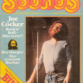 """""""Sounds""""-Cover 10/76"""