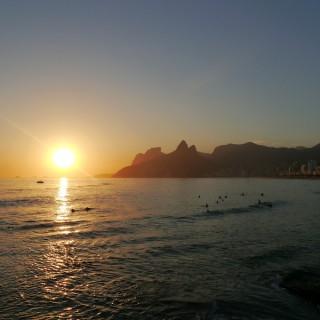 Sonnenuntergang in Arpoador