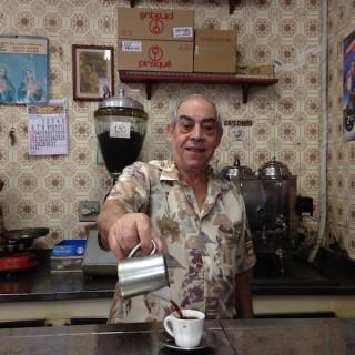 """Rios bester Cafézinho im """"Santa Cruz""""."""
