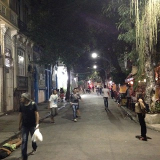 Am frühen Abend in Lapa