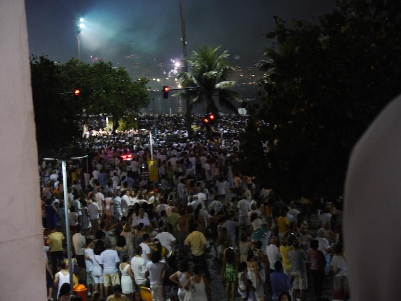 Silvester an der Copacabana