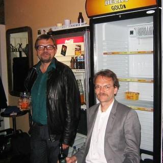 Detlef und Diedrich Diederichsen backstage im Lido.