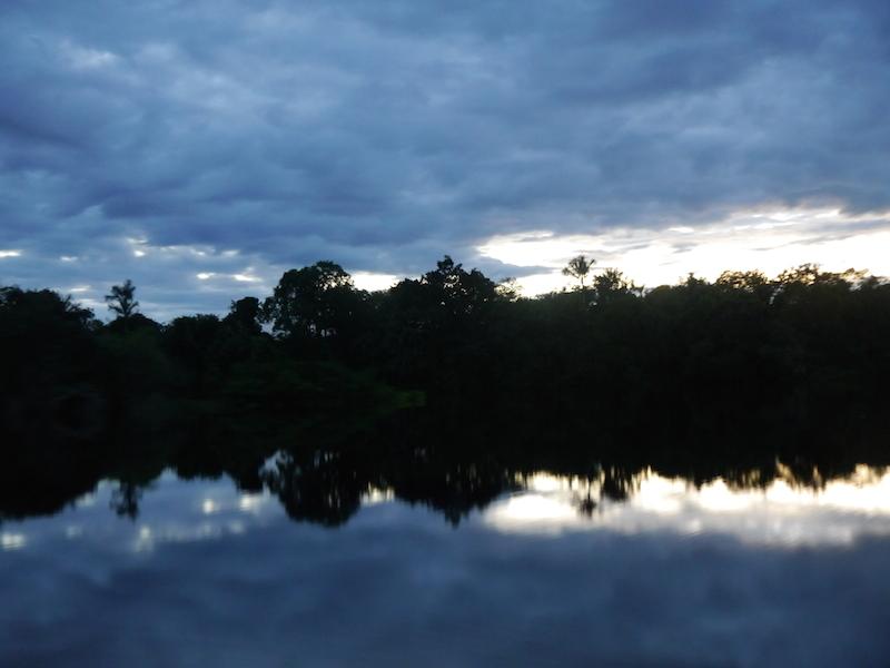Morgendliche Spiegelung  auf dem Rio Negro.