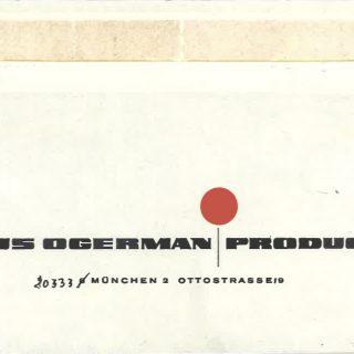 Die Rückseite von Ogermans Briefumschlägen. Ich fragte ihn einmal, welcher Designer das entworfen hätte. Seine Antwort: der Schreibwarenladen um die Ecke.