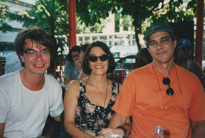 Joyce mit Ehemann und Schlagzeuger Tutty Moreno und Kelly in Rio
